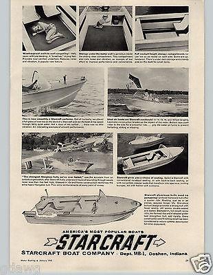1963 PAPER AD Starcraft Boat Company Motor Boat Goshen Indiana Water Ski