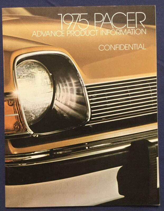 Rare CONFIDENTIAL 1st Year 1975 AMC Pacer Advance Product Information Catalog