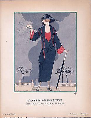 George Barbier  Gazette Du Bon Ton  Laverse Intempestive  1922