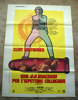 Vintage Original 1973 CLINT EASTWOOD - DIRTY HARRY Movie Poster 1sh Film noir