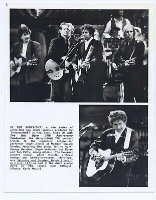 Bob Dylan PBS 1992 The Bob Dylan 30th Anniversary CELEBRATION Original 7.75x10