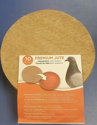 10pk LARGE JUTE ROUND NEST FELTS LINERS FOR PIGEON EXOTIC BIRD NESTING PAN BOWL