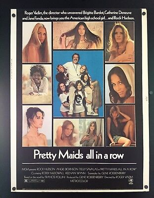Original 1971 Pretty Maids all in a row 30 x 40 Movie Poster ~ Rock