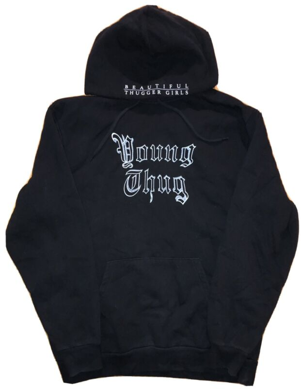 Young Thug Hoodie Size L Beautiful Thugger Girls Official Merchandise Rap Music