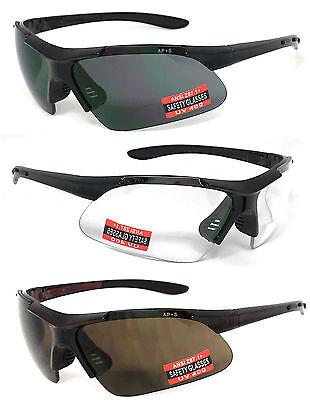 Inner Bifocal Safety Reading Glasses Reading Sunglasses UV400 AP+S ANSI Z87.1+ (Safety Bifocals)