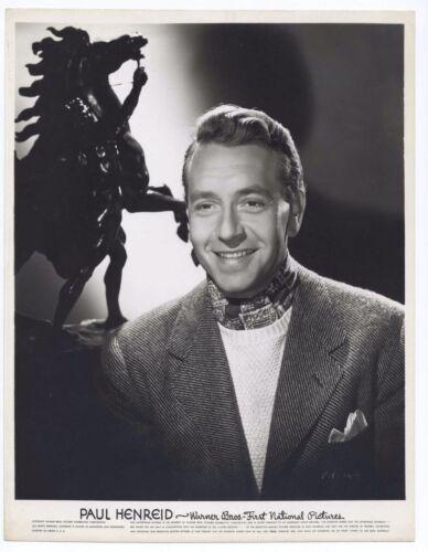 Paul Henried 1940s Warner Brothers Original 8x10 Portrait HANDSOME