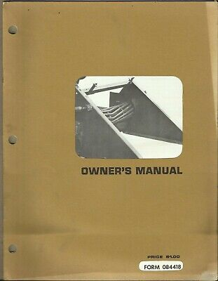 Hesston Hay Conditioner 280 Form 084418 Tractor Owners Manual