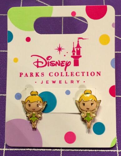 🌴 Disney Parks Princess Tinker Bell Pierced Earrings Jewelry Girls NEW SO CUTE!