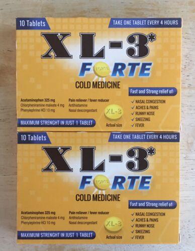 XL-3* Forte Cold Medicine 20ct