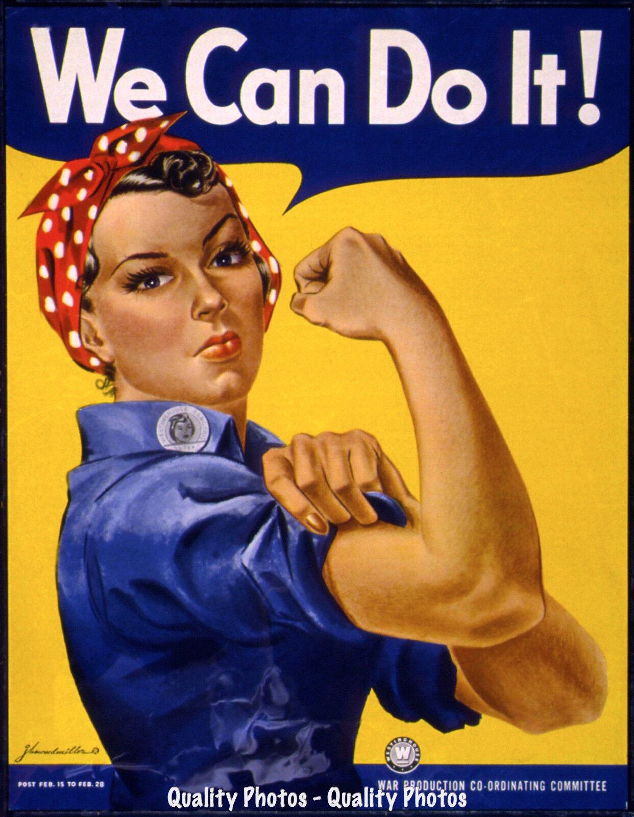 Rosie The Riveter 8 5x11 Photo Print War Dept Poster Feminism We Can Do It Art Ebay