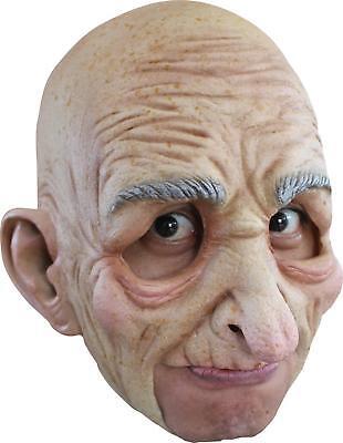 Erwachsene Alter Mann Großvater Senior Chinless Latex Maske Kostüm Zubehör