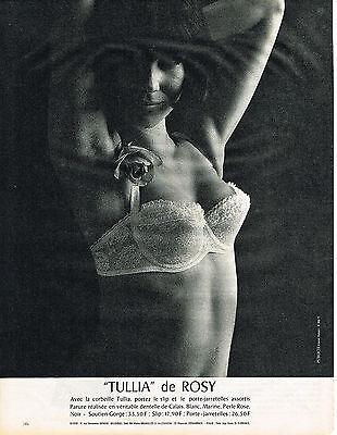 Image PUBLICITE ADVERTISING  1964   ROSY  soutien gorge à la corbeille sous vetements