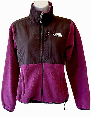 Womens The North Face Denali Purple Fleece Zip Up Jacket Sweater XS