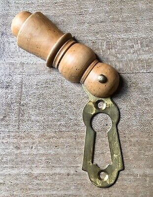 Antique Escutcheon Keyhole Wooden Vintage Door Hardware Victorian Beehive