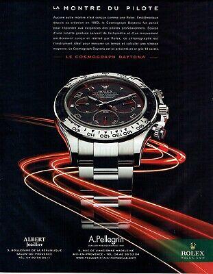Publicité Advertising 029  2010    la montre Rolex cosmograph Daytona