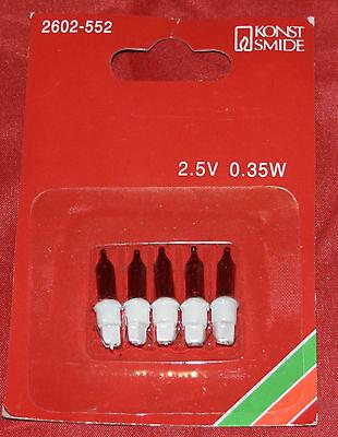 Konstsmide 2602-552 Ersatzbirnen Lichterkette rot/weiß 2,5 Volt 0,35 Watt (207) ()