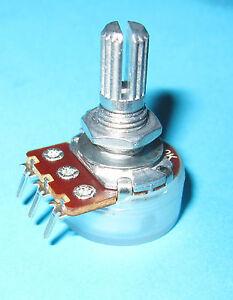 A500K-500k-ohm-Audio-Taper-Log-Pot-Sturdy-Pins-Knurled-Split-Shaft-Alpha-P