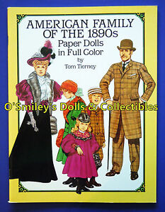 AMERICAN-FAMILY-THE-1890s-ERA-Full-Color-1987-PAPER-DOLLS-Tom-Tierney-UNCUT