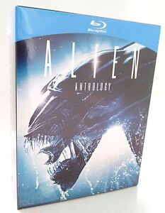 ALIEN ANTHOLOGY 1+2+3+4 - Box - 4 Blu-Ray - NEU + OVP