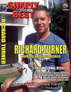 RICHARD TURNER of WORKSOP RACING PIGEON DVD - BRAND NEW for 2012