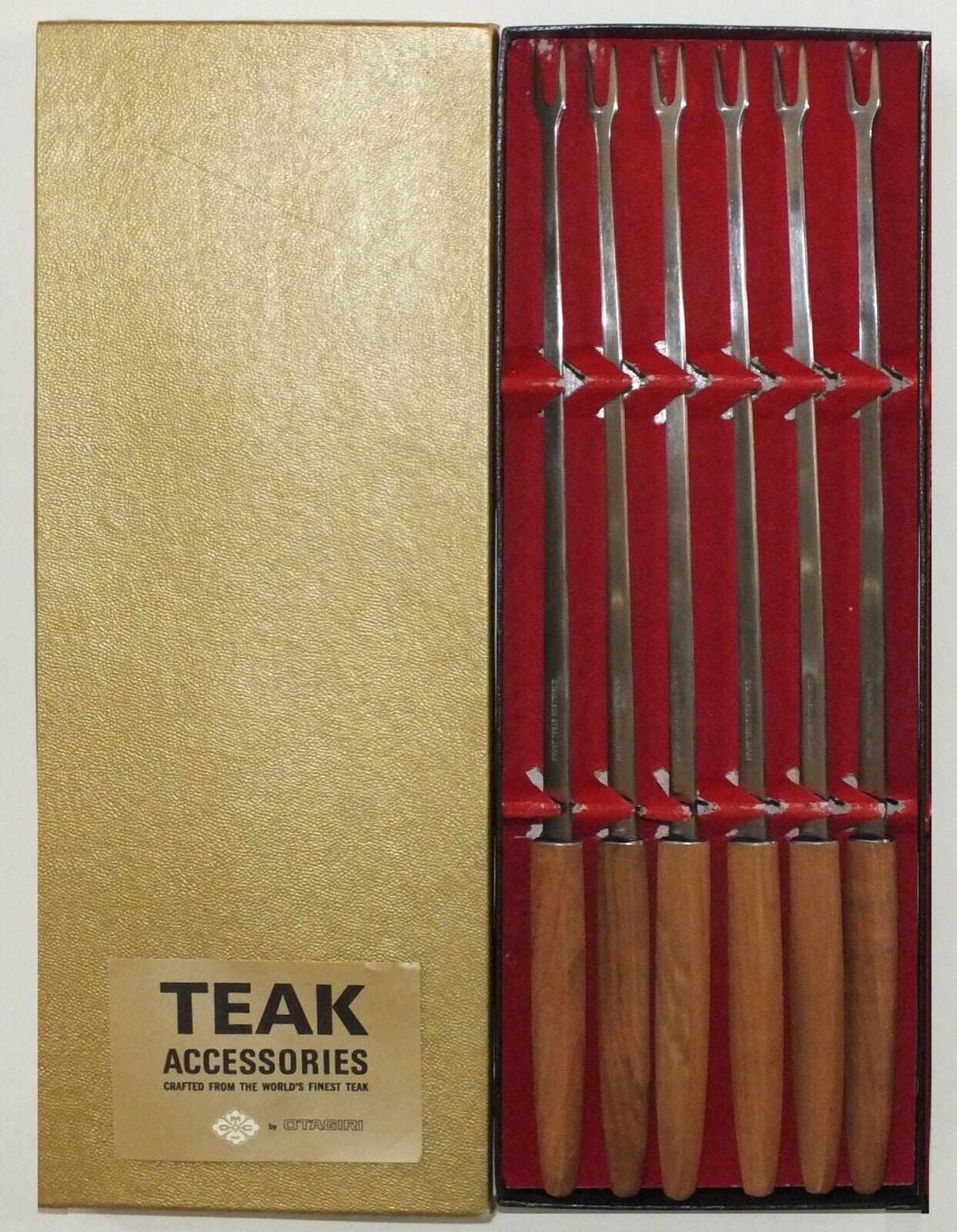 Otagiri Mercantile Company Teak And Stainless Steel Fondue Forks Japan - $25.00