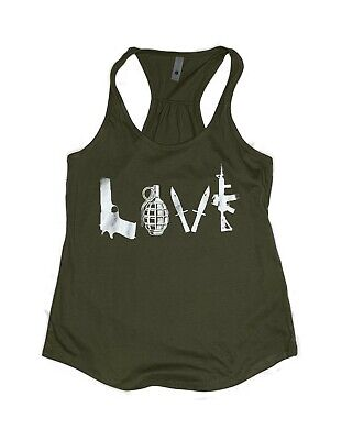 08-36T LOVE 2nd Amendment Molon Labe Woman's relax fit workout Tank Top Fitness -