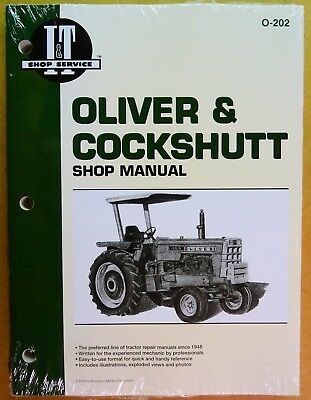 New Oliver Shop Manual For Tractor Models 1555 1650 1755 1850 1950 2255 O-202