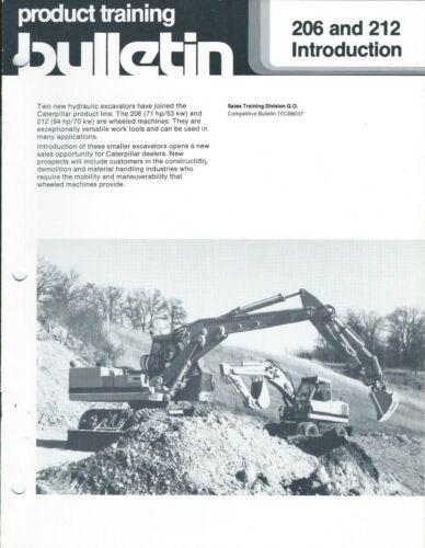 Equipment Brochure - Caterpillar - 206 212 - Excavator - 1984 Training (E6029)