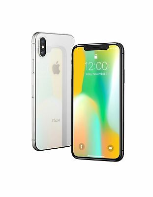 Apple iPhone X - 64GB - Silver GSm unlocked A1901-excellent.