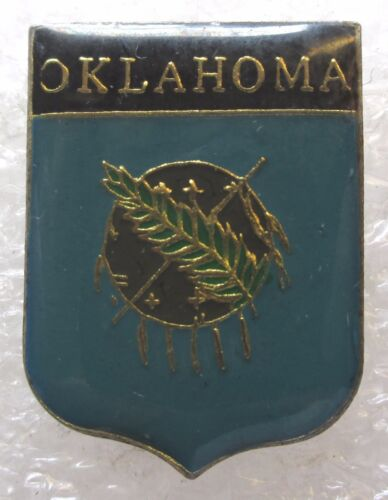 State of Oklahoma Travel Souvenir Collector Pin