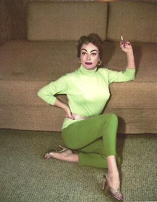 Joan Crawford Smoking 8X10 Photo  U6514