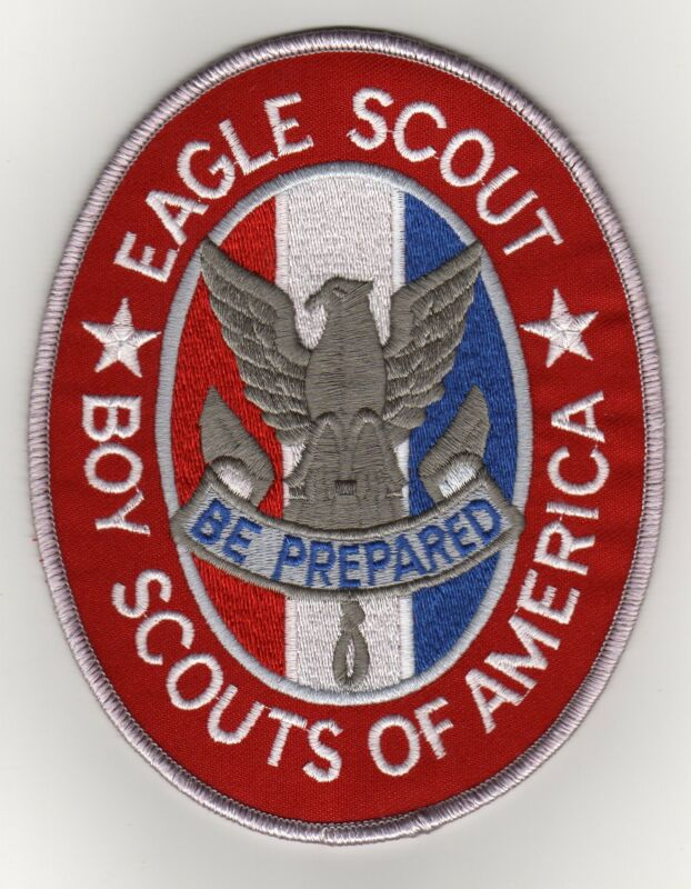 "Eagle Scout Rank Jacket Patch w/ ""Since 1910"" Slogan Backing, Mint!"