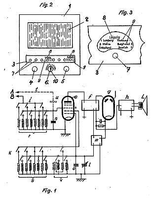 Antikes Radio Telefunken Lorenz AEG: P a t e n te 1920+