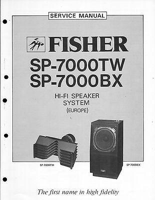 Fisher Service Manual für SP-7000 TW-BX