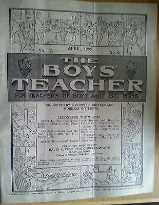 1906 Booklet The Boys Teachers Sunday School Teacher Lessons Cook Pub Jesus - Sunday School Teacher
