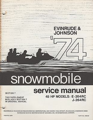 manuals 15 trainers4me 1974 evinrude johnson snowmobile 45 hp section 7 supplement service manual 014