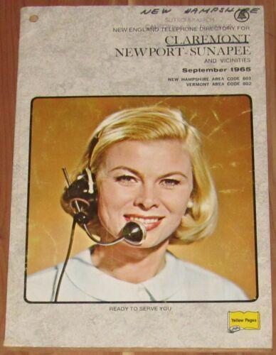 1965 NEW HAMPSHIRE TELEPHONE DIRECTORY, CLAREMONT NEWPORT-SUNAPEE & VICINITIES