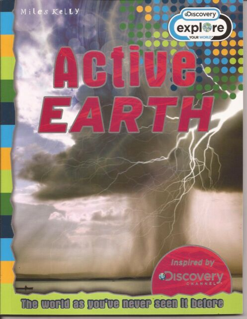 ACTIVE EARTH Miles Kelly Discover Explore the World Children's Educational Book