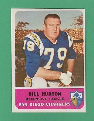 1962 Fleer Bill Hudson San Diego Chargers  85