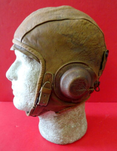 RARE ARMY AIR CORPS TYPE A-7 LEATHER FLYING HELMET