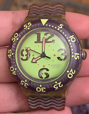 SWATCH SCUBA 200 M 1991 SWISS MADE VINTAGE Watch Face Only Needs New Battery