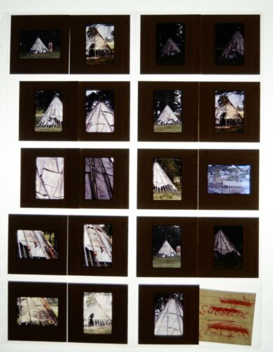 SUBARCTIC 35mm Slides 1974 Jim Baenen Archeology Native American Washington Vtg