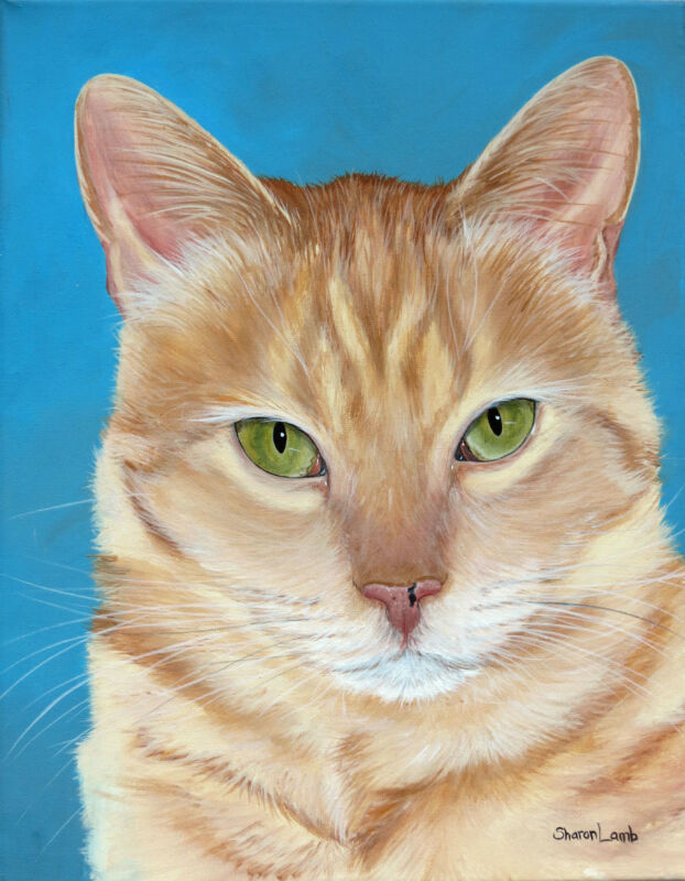 Life Like 8x10 Pet Painting Commission of Any Animal Artist Sharon Lamb