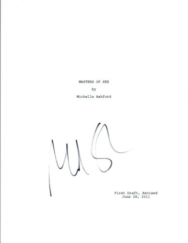 Michael Sheen Signed Autographed MASTERS OF SEX Pilot Episode Script COA VD
