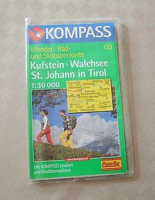 Kufstein - Walchsee - St. Johann - Wander- Rad- Skitourenkarte - Kompass