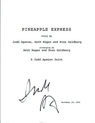 Judd Apatow Signed Autographed Pineapple Express Full Movie Script Coa Vd