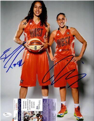 Brittney Griner + Diana Taurasi Dual Signed 11x14 Photo w/ JSA COA #S30979