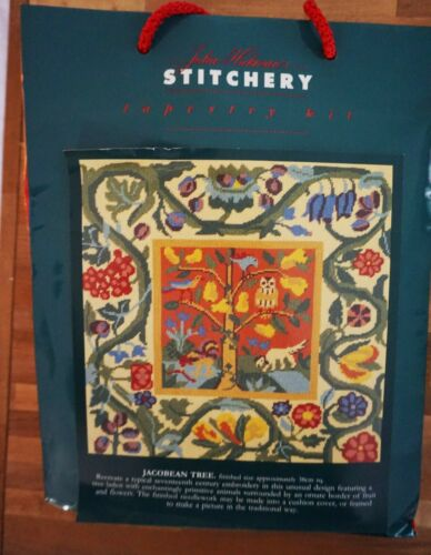 Stitchery Tapestry Needlepoint Kit Jacobean Tree Pillow Picture NEW England