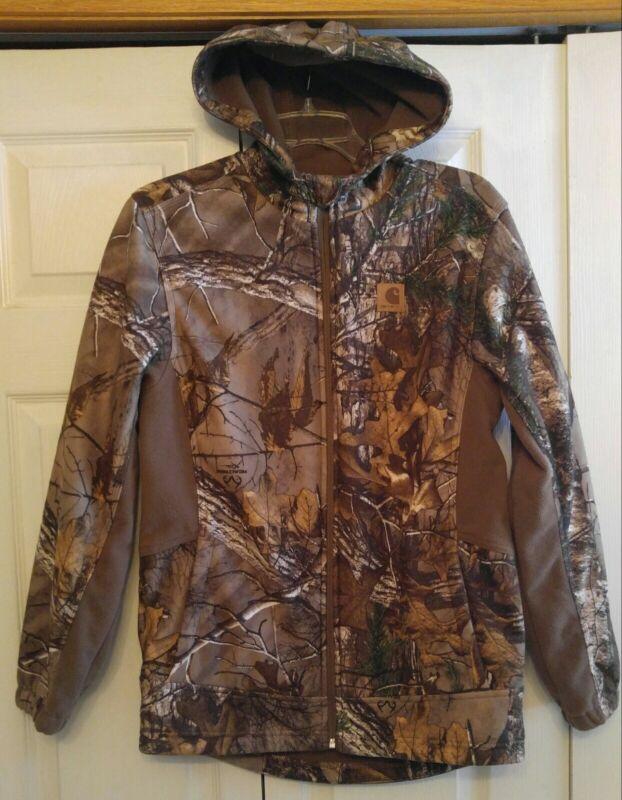 Carhartt Camouflage Realtree Fleece Zip Up Hooded Jacket Youth XL (18-20)