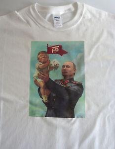 T-shirt political, Baby Trump Putin size large 100% cotton funny
